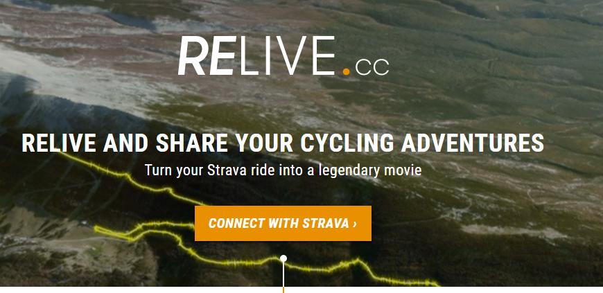 Breng je Strava-rit tot leven met Relive.cc
