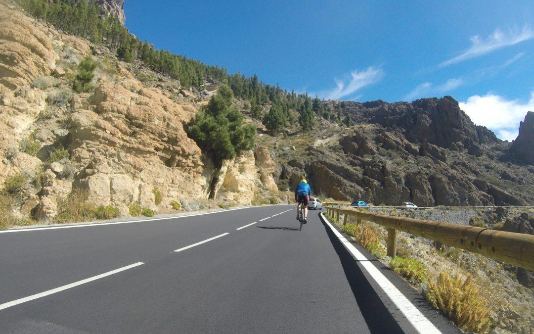 Wielertochten Testteam op Tenerife
