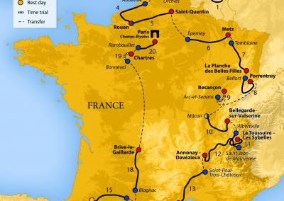 Tour de France spel 2021 (meer dan 25.000 euro aan prijzengeld)